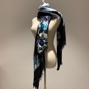 Burberry Prorsum Tie Dye Cotton Silk Scarf